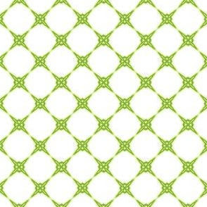 Green & White Diamond pattern