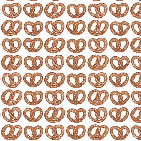 Pretzels fabric by landpenguin on Spoonflower - custom fabric