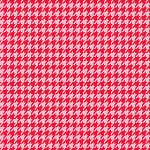 Houndstooth Red and Pink Small