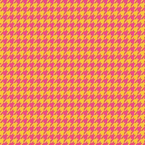 Houndstooth Gold and Hot Pink Small