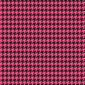 Houndstooth Black and Pink Small