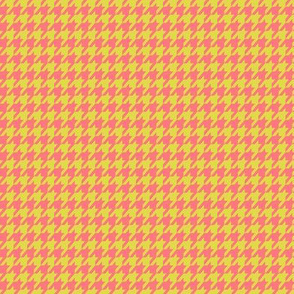 Houndstooth Peach and Lime Small