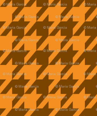 Houndstooth Pumpkin Spice Small