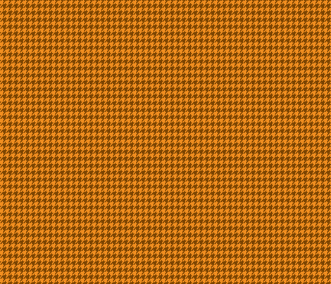 Houndstooth Pumpkin Spice Small fabric by mariafaithgarcia on Spoonflower - custom fabric