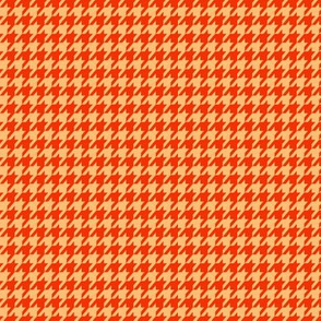 Houndstooth Red and Beige Small