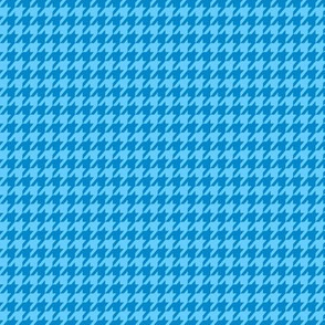 Blue on Blue Houndstooth Small