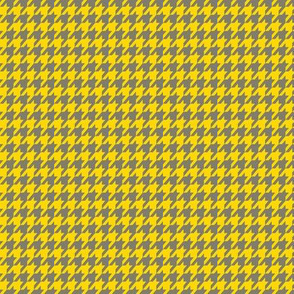 Yellow and Gray Houndstooth Small