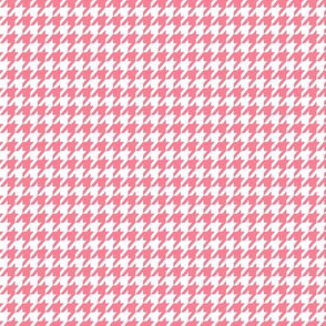 Flamingo Pink Houndstooth Small