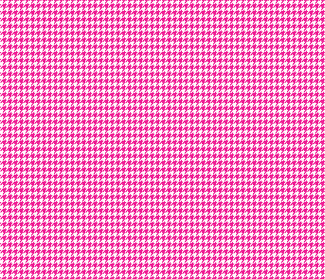 Pink and White Houndstooth Small  fabric by mariafaithgarcia on Spoonflower - custom fabric