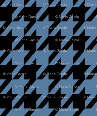Medium Blue and Black Houndstooth Small