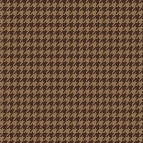 Beige and Brown Houndstooth Small