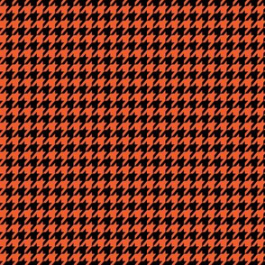 Orange and Black Houndstooth Small