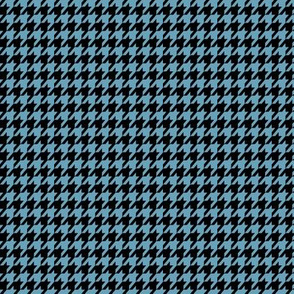 Light Blue and Black Houndstooth Small