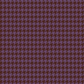 Purple and Brown Houndstooth Small