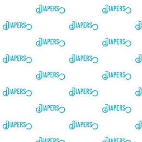 diapers blue text