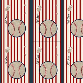 baseball all star VERTICAL  14 - red stripes