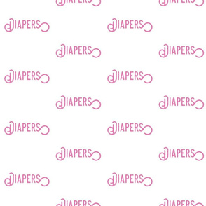 diapers Pink text