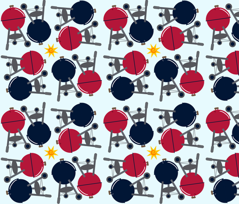 BBQ Kettles fabric by twilfley on Spoonflower - custom fabric