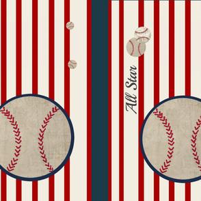 YARD split 54 baseball red stripe All Star