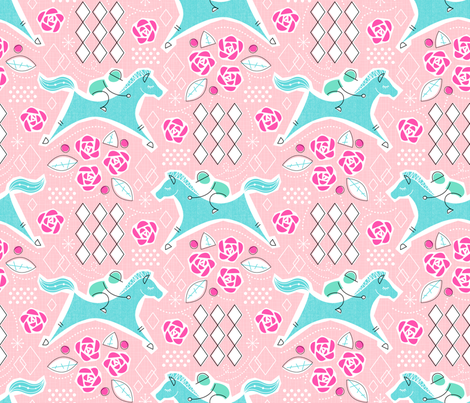 Derby-Retro Party fabric by mia_valdez on Spoonflower - custom fabric