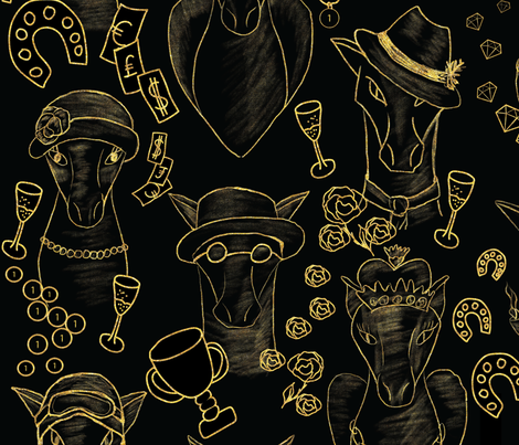 Winners club at the horse races fabric by stargazingseamstress on Spoonflower - custom fabric