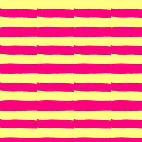 Maridadi  23 Pink & Yellow Stripe
