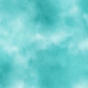 Aqua Green Watercolor Sky