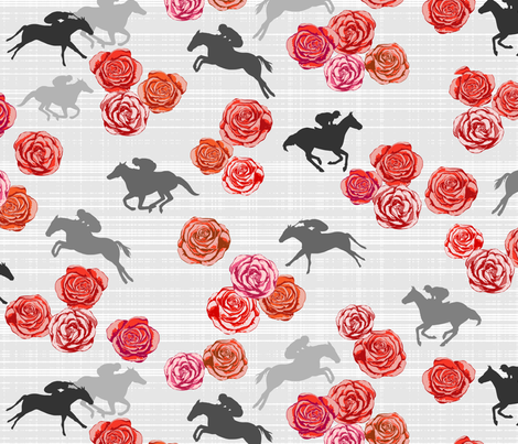 Races And Roses fabric by mrshervi on Spoonflower - custom fabric