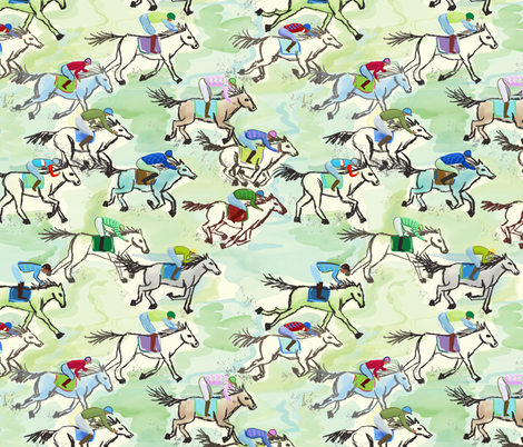 off to the horse races fabric by designed_by_debby on Spoonflower - custom fabric
