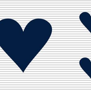 Heart Blanket || Minky Layout (navy)
