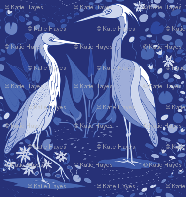 Love on the Intracoastal Waterway- blue monochrome