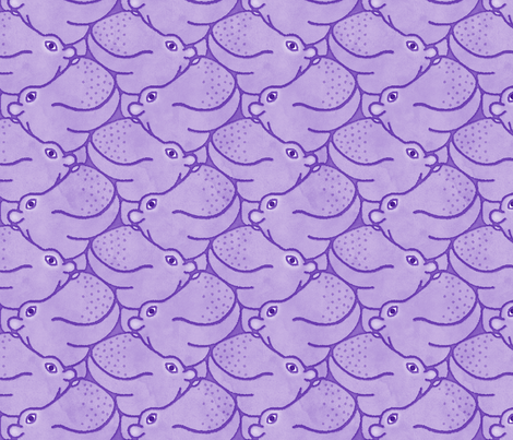 Heads Up Hippos - monochrome fabric by hippopottermiss on Spoonflower - custom fabric