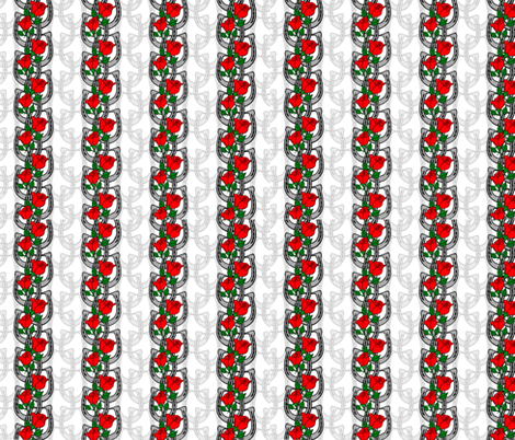 Horseshoes and Roses fabric by gcatmash on Spoonflower - custom fabric
