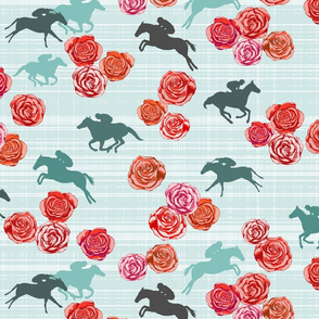 Races And Roses Mint Red