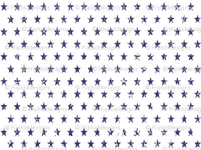 Distressed Navy Stars