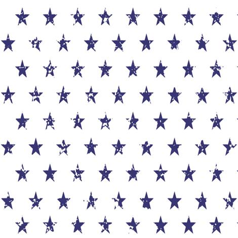 Distressed Navy Stars fabric by hipkiddesigns on Spoonflower - custom fabric