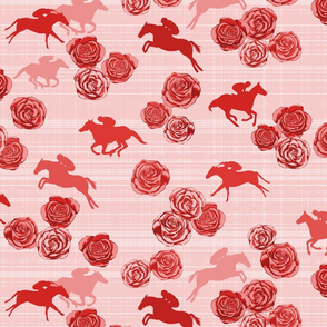 Horses And Roses Red