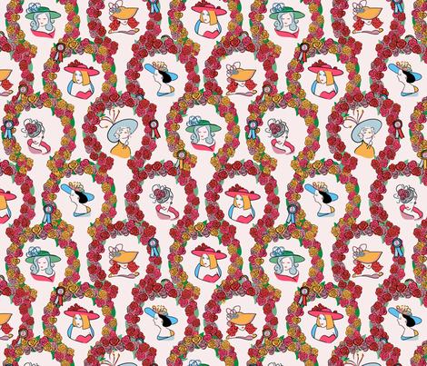 Kentucky Derby Dames fabric by little_luck_designs on Spoonflower - custom fabric
