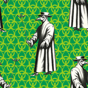 Custom Requests - Plague Doctor on Green with Trefoils
