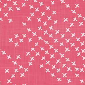 Geometrically Three - Bright pink