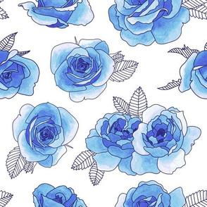 Navy & Blue Roses