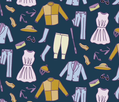 Horse Races Costume fabric by paperondesign on Spoonflower - custom fabric