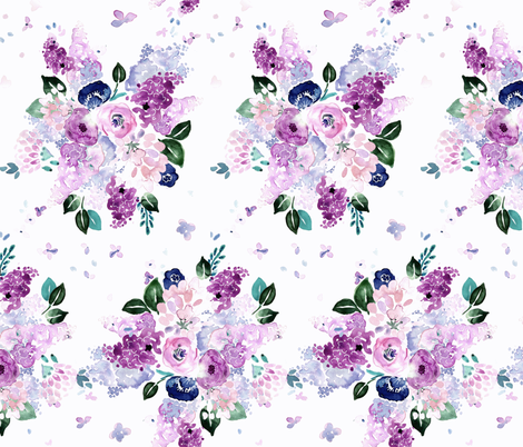 lilac lavender romance fabric by crystal_walen on Spoonflower - custom fabric