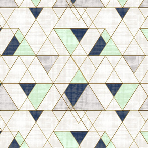 Mod Triangles - Vintage Navy Jadeite