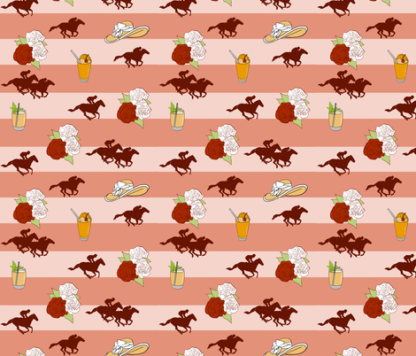 Off to the Races 2 fabric by green_artist_chic on Spoonflower - custom fabric