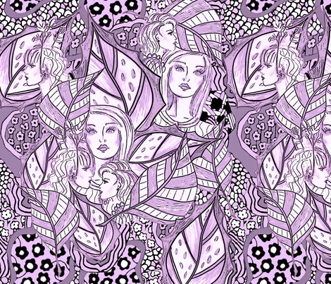 Strange monochrome dream  fabric by lucybaribeau on Spoonflower - custom fabric