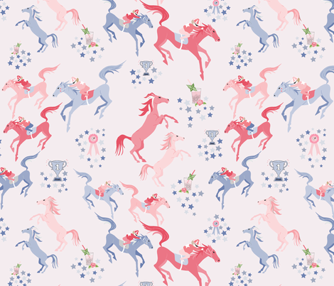 off to the horse races fabric by vivdesign on Spoonflower - custom fabric