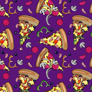 Peperoni Pizza Slices Aubergine