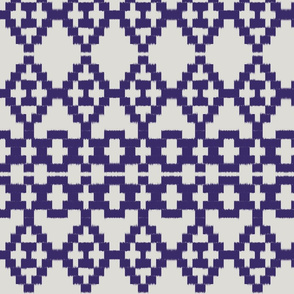 Ikat aztec_violet