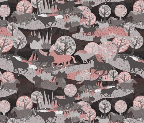 run horses run! fabric by kociara on Spoonflower - custom fabric